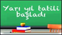 Öğrenciler Yarıyıl Tatiline Girdi